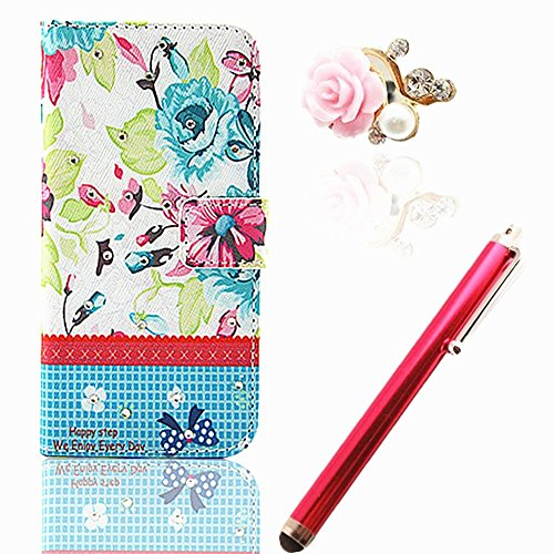 """Vandot 3 In1 Accessory Set 1X Phone Case Silicone Case For Apple Iphone 6 (4.7 """") Pu Leather Cover Leather Case Elegant 3D Girl Bling Shining Luster Crystal Diamond Rhinestone Pink Blue Yellow Red White Orange Colored Flower Rock Magnetic Closure Magnetic front-945851"""