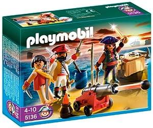 Playmobil - 5136 - Jeu de construction - Equipage de pirates avec armes