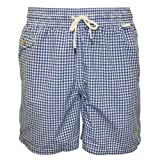 Polo Ralph Lauren Gingham Swim Shorts, Blue/White