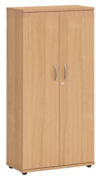 Office Hippo Fraction Plus Double Door Cupboard with 3-Shelf - Nova Oak