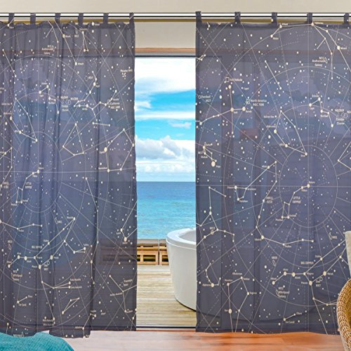 Zoeo tulle voile window decoration sheer curtain 12 for Sheer galaxy fabric