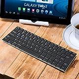 GMYLE(TM) Bluetoothアルミニウム 無線ワイヤレス薄型ミニキーボード10インチ [ブラック] (ショートカットキーが Android / iOS / Windows タブレット対応します)