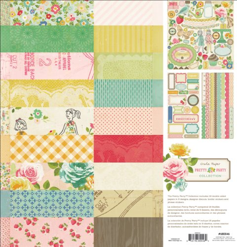 Crate Paper Pretty Party Collection Kit 12'X12'