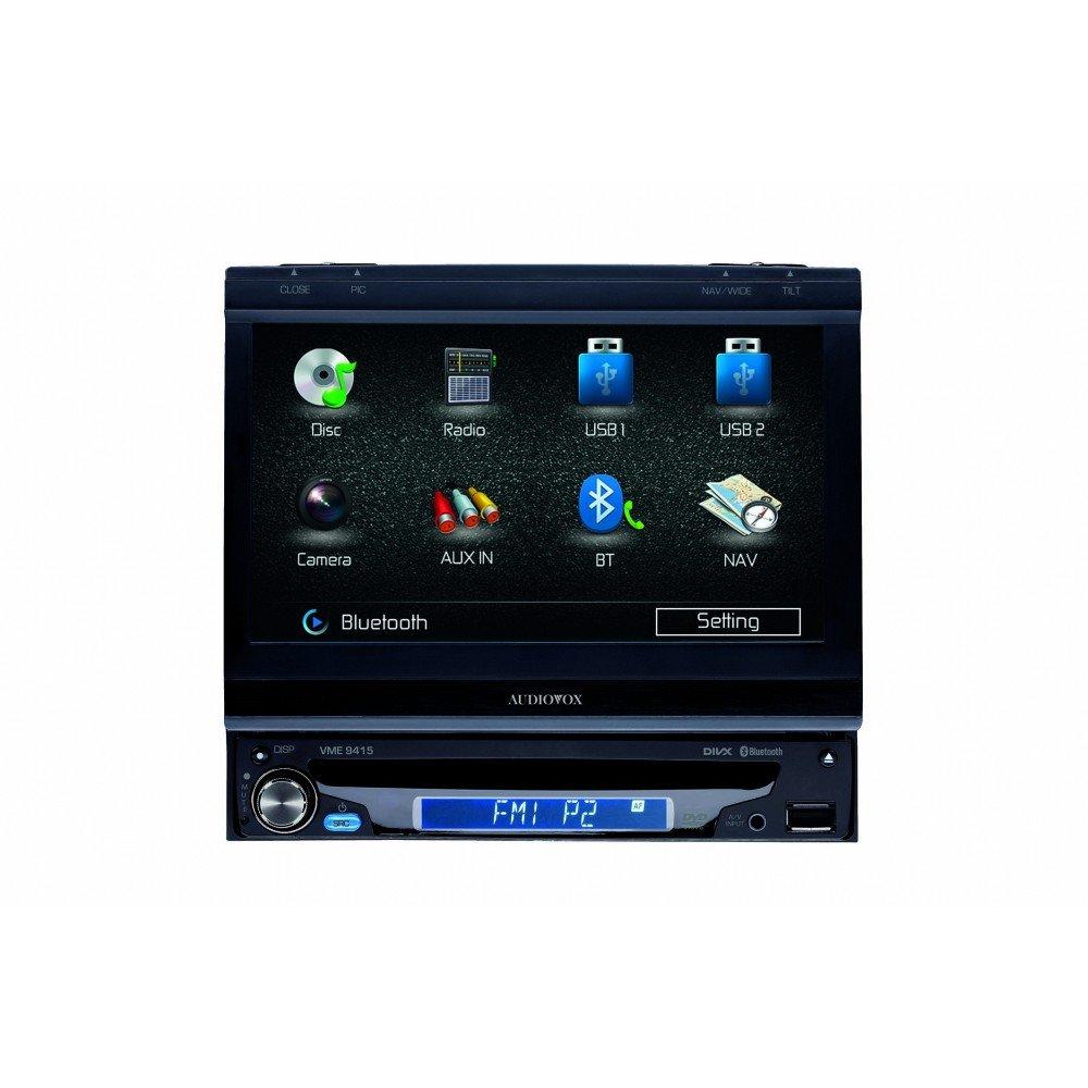 Audiovox VME 9415  1 DIN Widescreen MultimediaReceiver mit 17.8 cm LCDTouchscreen und LED Backlight  NavigationKritiken und weitere Informationen