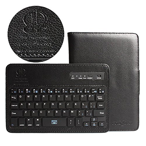 Boriyuan Portable Removable Detachable Wireless Bluetooth Abs Keyboard Carrying Case Magnetic Protective Flip Folding Pu Leather Cover With Viewing Stand Holder Function For Samsung Galaxy Tab 4 7.0 7 Inch T230 T231 T235 With Free Screen Protector And Tou