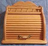 Roll Top Bread Box (Honey Oak)