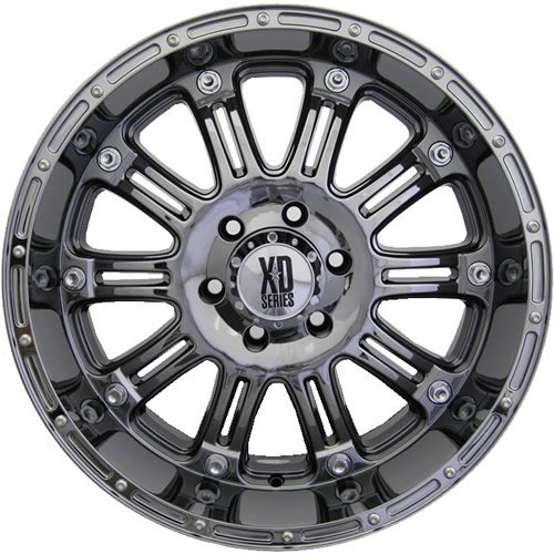 XD XD795 18x9 Black Chrome Wheel / Rim 6x5.5 with a 18mm Offset and a 106.25 Hub Bore. Partnumber XD79589068918