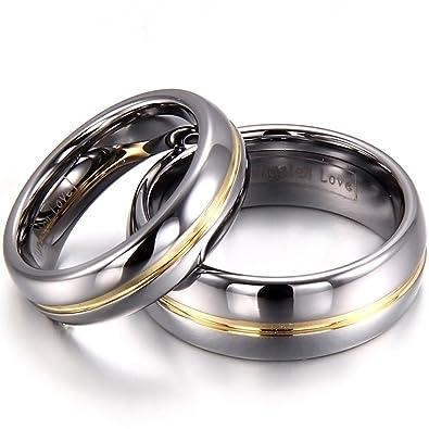 Bling Bijoux Bague de Mariage de tungst/ène Unisexe 5/mm
