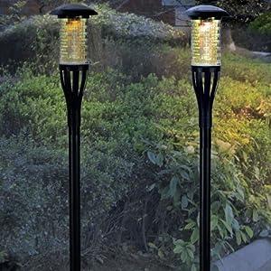 Amazon Plastic Solar LED Tiki Torch Lights Solar
