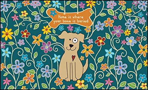 Toland Home Garden 18 By 30 Dog Bone Indoor Outdoor Mat