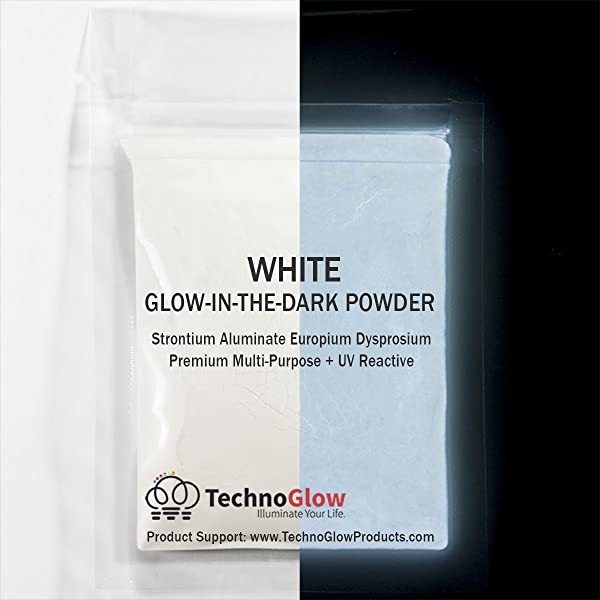 Glow in The Dark & UV Reactive Powder - Multipurpose PRO-Series (Natural White, 4 Ounces (113g)) (Color: Natural White, Tamaño: 4 Ounces (113g))
