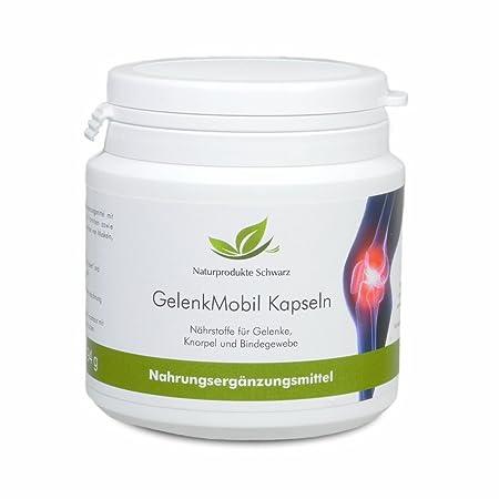 Naturprodukte Schwarz – Gelenk Mobil Kapseln mit Glucosamin und Chondroitin, 135 st.