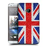 Head Case Designs Red & Blue Glitter Union Jack Collection Back Case For Htc One