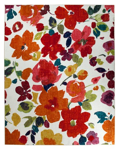Mohawk home spring blooms area rug 96 by 120 inch multi for Home decor 96