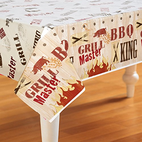 Grill Master BBQ Plastic Tablecover