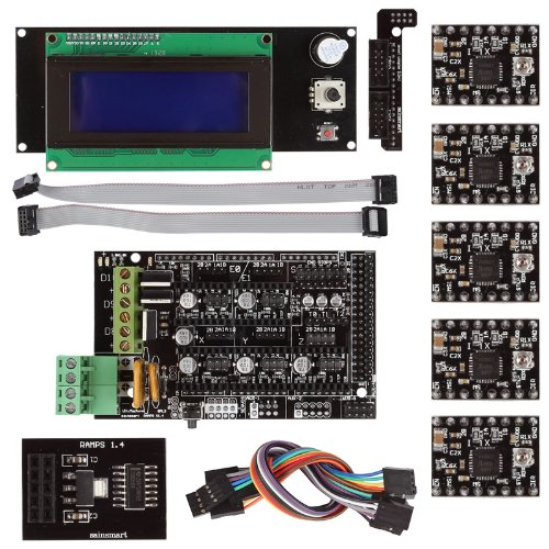 SainSmart RAMPS 1.4 3D Printer Starter Kit with Breakout SD + A4988 + LCD2004 Control Panel for Arduino RepRap
