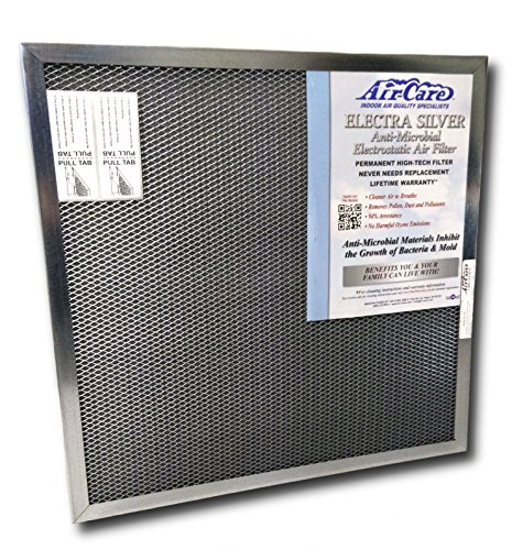 18x20x1 Electrostatic AC Furnace Air Filter Silver 94% Arrestance. Lifetime Warranty. Never Buy a New Filter