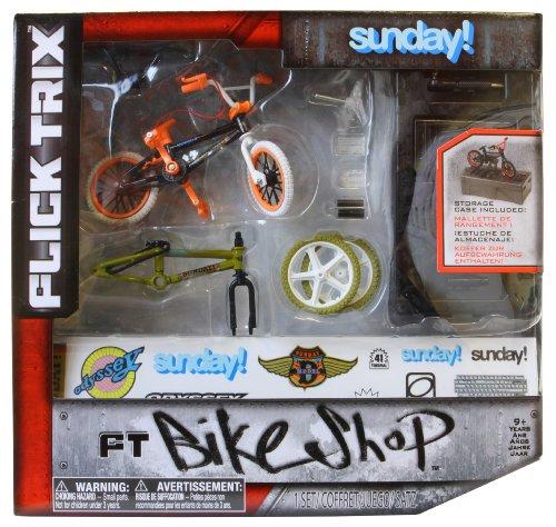 Imagen 1 de Flick Trix 6014025 Bike Shop - Bicicleta en miniatura con piezas de sustitución [Importado de Alemania]