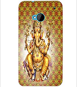 PrintDhaba Lord Ganesha D-4730 Back Case Cover for HTC ONE M7 (Multi-Coloured)