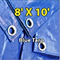 8' X 10' Blue Multi-purpose 6-mil Waterproof Poly Tarp Cover 8x10 Tent Shelter Camping Tarpaulin By Super Tarp obtained from Blue Tarp by Super Tarp