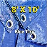 8' X 10' Blue Multi-purpose 6-mil Waterproof Poly Tarp Cover 8x10 Tent Shelter Camping Tarpaulin By Super Tarp