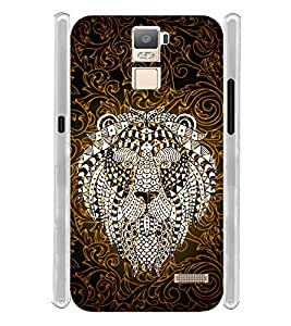 Indian Lion Graphics Soft Silicon Rubberized Back Case Cover for Oppo R7 Plus