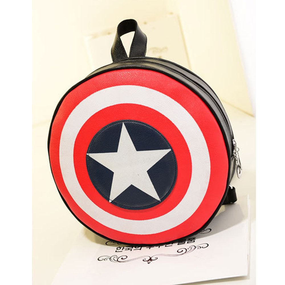 Aselling Leisure Captain America's Shield Backpack