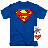 Superman Classic Logo T Shirt (X-Large) (Color: Royal, Tamaño: X-Large)