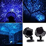 Coohole Celestial Star Cosmos Night Lamp Night Lights Projection Projector Starry Sky for Home and Halloween Christmas Party Decor (Blue)