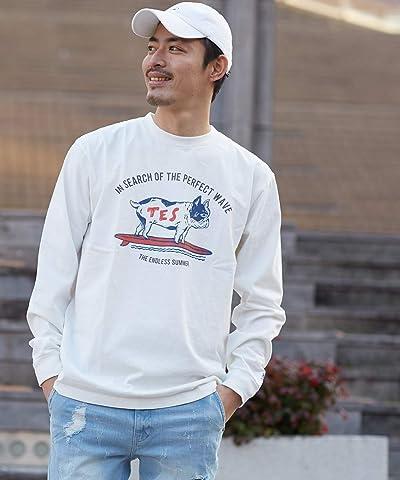 TES ロンT メンズ Tシャツ 長袖 クルーネック 厚手 国産 日本製 ロゴ プリントTシャツ ロゴT 長袖Tシャツ ブランド BUHI ブヒ テス ザエンドレスサマー