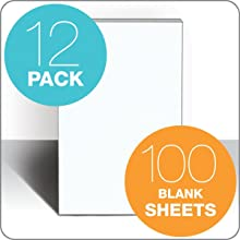 TOPS Second Nature Recycled Scratch Pad, Unruled, 5 x 8 Inches, 100-Sheet Pad (12 Pads per Pack) (74717)