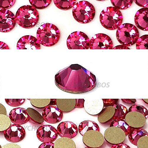 ROSE (209) pink Swarovski NEW 2088 XIRIUS Rose 34ss 7mm flatback No-Hotfix rhinestones ss34 18 pcs (1/8 gross) *FREE Shipping from Mychobos (Crystal-Wholesale)*