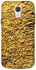 The Racoon Grip shiny foil gold hard plastic printed back case / cover for Samsung Galaxy S4 Mini