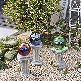 Miniature Fairy Garden Greek Gazing Balls Including Stands, Set of 3