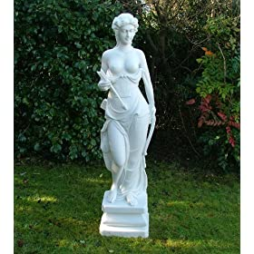 Large Garden Statues Ornament Art - Nude Diana Sculpture