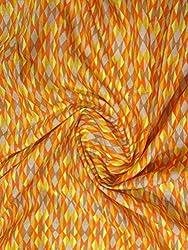 Inhika Women's Kurti Fabric (Inhika_237_Orange)
