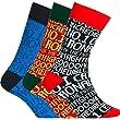 CR7 Cristiano Ronaldo Boys' Socks Set of 3 Pairs Multi-Coloured Dunkelrot/Schwarz/Rot Size:30/34