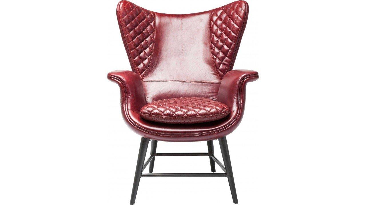 Kare 79524 Sessel Tudor Leather, rot