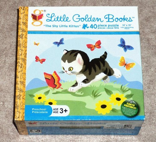 """The Shy Little Kitten"" 40 Piece ~ Little Golden Book Preschool Puzzle"