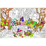 Gnome Home - Giant 22 X 32.5 Inch Line Art Coloring Poster