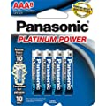 Panasonic Energy Corporation LR03XP/8B Platinum Power AAA Alkaline Batteries, 8 Pack
