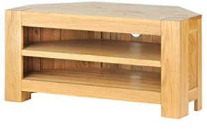 Solid Oak Chunky Corner TV Unit       reviews and more information