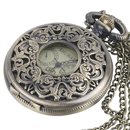 81stgeneration-Womens-Brass-Vintage-Style-Mechanical-Pocket-Watch-Chain-Pendant-Necklace-78-cm