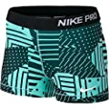"NIKE Women's Dri Fit 3"" Pro Compression Shorts, Light Aqua, Medium, 642572 466"