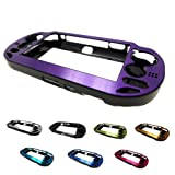 PlayStation PS VITA 1000 Case Cover Aluminum Brushed Metal Plated Plastic + Free Screen Protector (1st Generation, PCH-100x Version) PURPLE (Color: PURPLE, Tamaño: PS Vita PCH-100x)