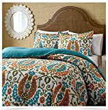 1800HomeLine Peacock Double Bed AC Comforter Set with matching Pillow Covers