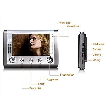 iegeek visiophone 7 tft filaire tanche mains libres intercom sonnette sonnette. Black Bedroom Furniture Sets. Home Design Ideas