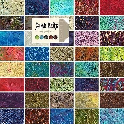 Amazon.com: Moda XANADU BATIKS Precut 10-inch Layer Cake Cotton Fabric