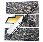 Auto Wrap Vinyl Sheets (2) - You-Cut your own Tree Camouflage Decal (Overlays) for Chevy Bowtie Grill Emblem (Badge) - 11 x 4 Vinyls & Instructions Included