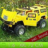 XXL 72cm RC HUMMER H2 Gelb Licht + Sound Effekte 1:6 Jeep Truck Ferngesteuert